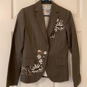 ⭐️2/$75⭐️ Zara Blazer - Embroidered Brown - Size 4